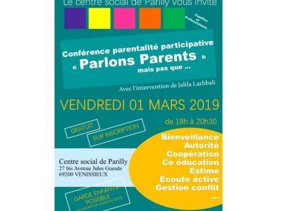 conférence parentalite participative centre social parilly